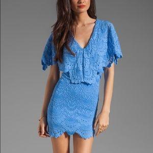 Nightcap Dresses & Skirts - Nightcap Blue Spanish Lace Dress size 2