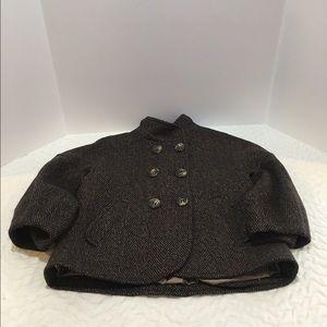 BCBG Jackets & Blazers - BCBG Beautiful Double Breasted Tweed Crop Pea Coat