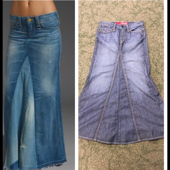 forefront of the times select for clearance limited style Long Denim Skirt by Guess✨