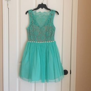 City Triangles Dresses & Skirts - 🎉FINAL PRICE!  Mint Lace and Tulle Prom Dress