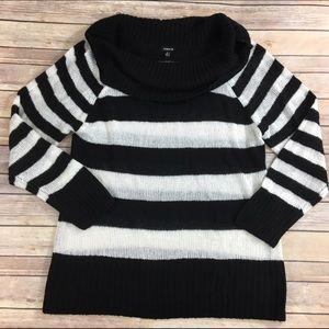 Torrid black and white stripe sweater