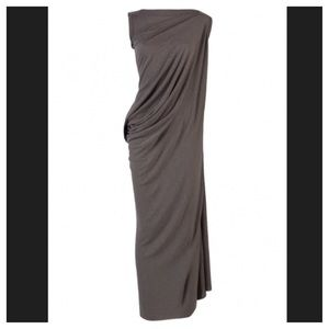 Rick Owens Dresses & Skirts - Rick Owens Lilies Side Drape Maxi Dress IT 40