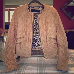 Zara lambskin leather jacket women's medium