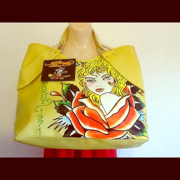 Ed Hardy Handbags - Ed hardy yellow bag 878cd3dd10