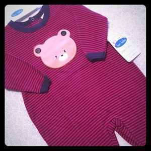 Bon Bebe Other - NWT Bon-Bebe Bear Footie Outfit Sz M/3-6M 🐻