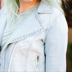 Jackets & Blazers - Studded Denim Jacket