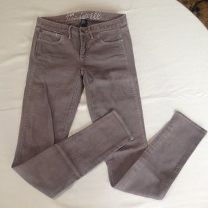 Madewell J Crew Light Brown Skinny Low Jeans Sz 24