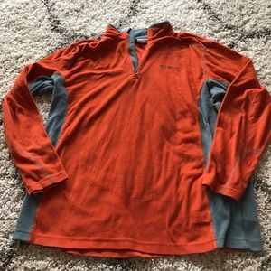 Columbia Other - Men's Columbia orange and gray fleece pullover