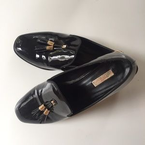 Shoes - Smoking slipper style patent leather loafers