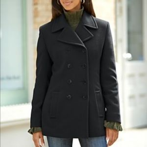Kenneth Cole Reaction Jackets & Blazers - Kenneth Cole reaction black wool pea coat size 4