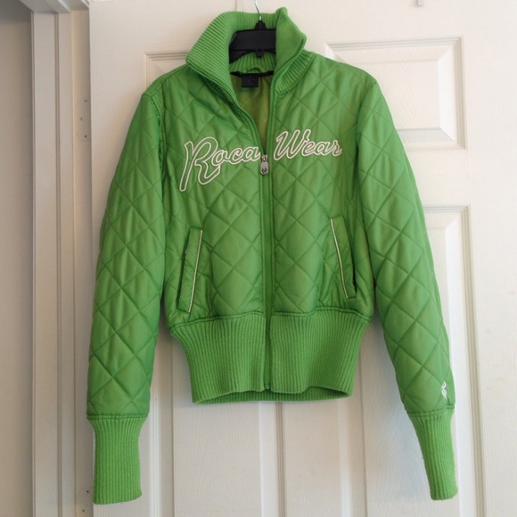 Rocawear - ROCA QUILTED APPLE GREEN JACKET from Anne's closet on ...