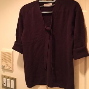 Luciano Barbera Sweaters - Dark brown cashmere sweater
