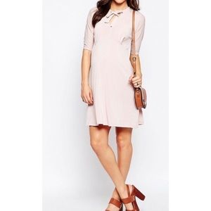 ASOS blush maternity dress
