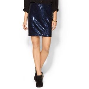 Piperlime Dresses & Skirts - Navy blue sequin skirt pencil party mini