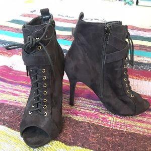 Wild Diva Shoes - Wild Diva lace up heel booties