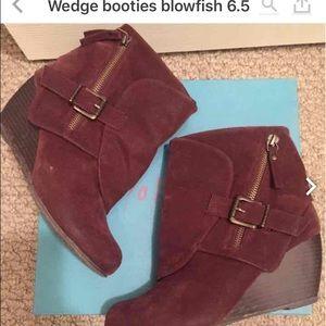 Blowfish Shoes - Wedge booties