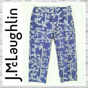 J. McLaughlin Pants - J. McLaughlin Bamboo Print Crop Sz 8