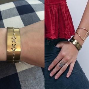 Free People Jewelry - New free people metal threaded bangle bracelet