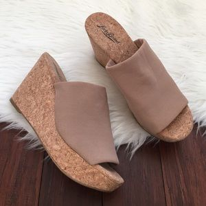 Lucky Brand Shoes - | Luck Brand | Taupe Cork Wedges