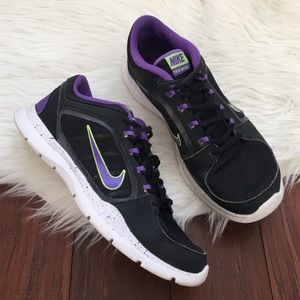 Nike Shoes - Nike Black & Purple Training Workout Sneakers