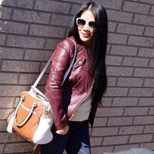 Michael Kors Handbags - MK two tone leather bag