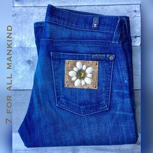 7 For All Mankind Embellished boot cut jeans