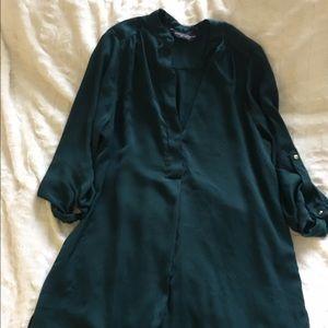 Dorothy Perkins emerald blouse size 10UK