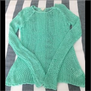 silence + noise Sweaters - Mint Green Sweater from Urban Outfitters