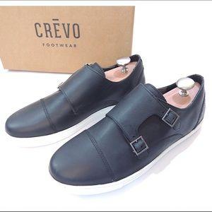 Crevo Other - 2xHP🎉NIB Crevo Leather Sneakers - Black Cap Monk