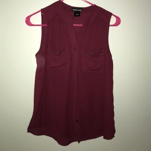 GUC- Maroon blouse XS