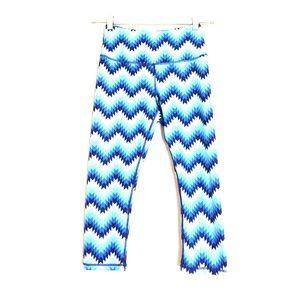 Kyodan Pants - Kyodan blue teal navy geometric cropped leggings