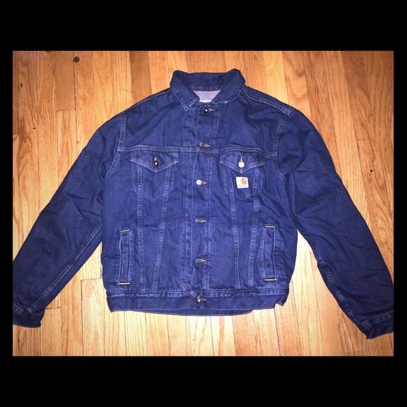 68c201ba28 Carhartt Jackets & Coats | Mens Sherpa Lined Jean Jacket | Poshmark