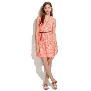 Madewell orange lace blossom dress