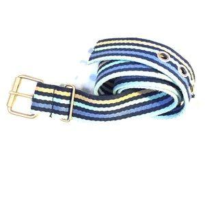 Blue striped belt