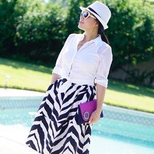 Express Dresses & Skirts - Brand new size 2 Express zebra midi skirt