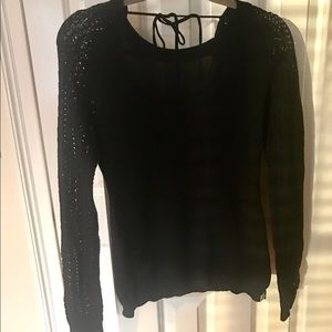 Black knit roxy sweater