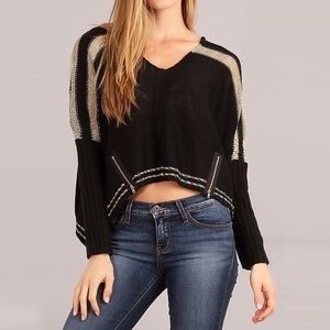Sweaters - Laid Back, Slouchy Crop Bohemian Sweater