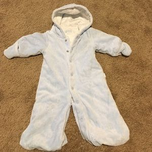 Le Top Other - Baby blue bunting coverall