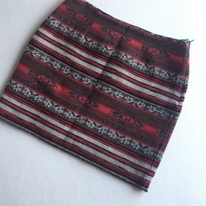 Fifteen Twenty Aztec A-line Skirt