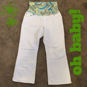 Gap white maternity crops