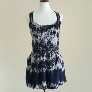 Mustard Seed Dresses & Skirts - Blue & Gray Tank Dress w/Pockets