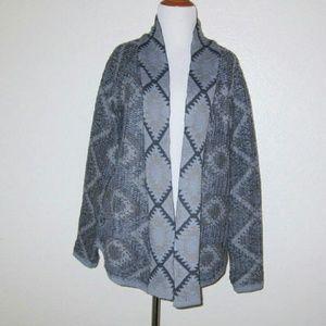 RD Style Blue Ilana Aztec Knit Cardigan