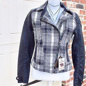Cavalini Jackets & Blazers - Cavalini Moto Jacket in Plaid ✨ SALE