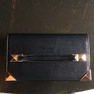 Melie Bianco black clutch w/shoulder strap