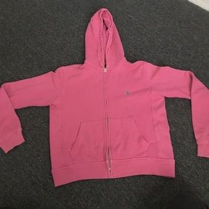RALPH LAUREN Pink Hoodie - Size: Medium