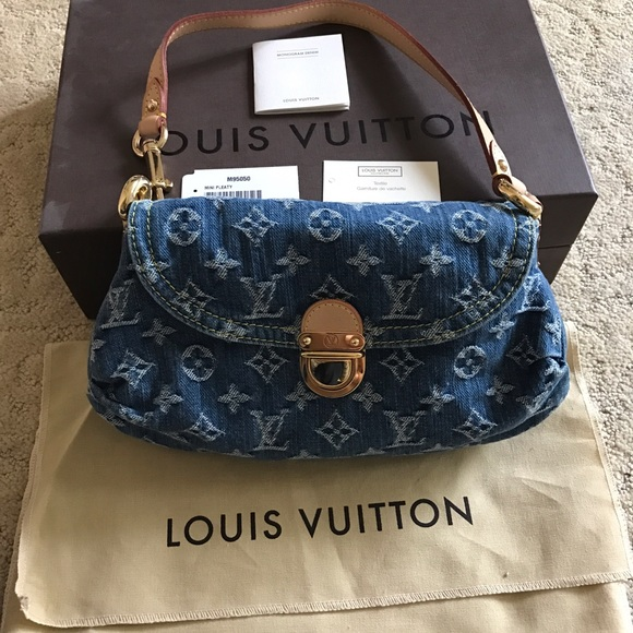 602b956d921 Louis Vuitton Bags | Monogram Denim Pleaty Denim Mini Handbag | Poshmark