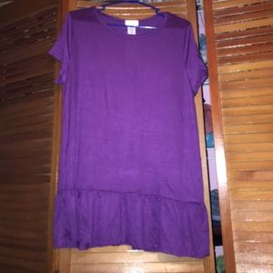 Bellino Clothing Tops - PARTY SALE!!!!! Purple Ruffle Hem Top