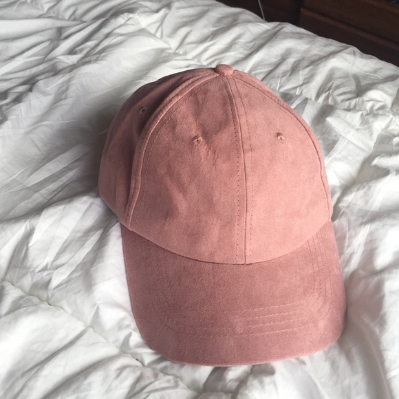 e92c2a675fe Forever 21 Accessories - PINK SUEDE BASEBALL CAP FOREVER 21