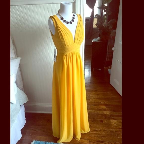 73184548875 NEW marigold Azazie Hillary Gown size 6