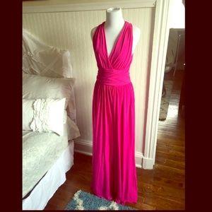 NWT Halston Heritage Petunia Gown, size 4.